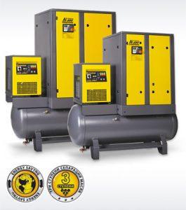 винтовые компрессоры COMPRAG AirStation производительностью до 3,6 кубических метров в минуту со встроенным осушителем